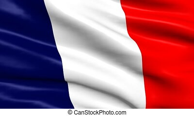 Flag of France looping background