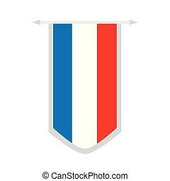 Flag of France on a banner