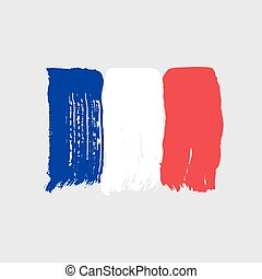 Flag of France on a gray background.