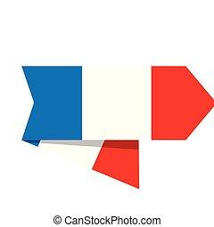 Flag of France on a label