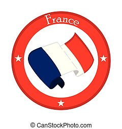 Flag of France on a label