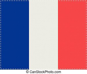 Flag of France on cloth