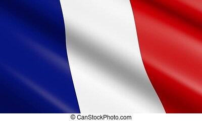 Flag of France (seamless loop)