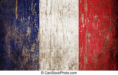 Flag of France - Grange textured flag of France
