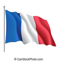 Vector illustration of flag of France