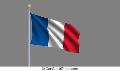 Flag of France with alpha matte