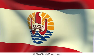 Flag of French Polynesia - Flags of the world collection -...