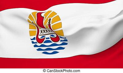 Flag of French Polynesia - Flag of the French Polynesia...