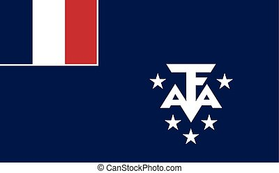 Flag of French Southern and Antarctic Lands - French...