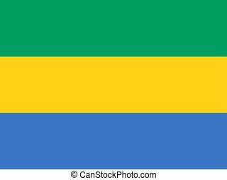 Flag of Gabon official colors and proportions