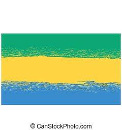 Flag of Gabon.