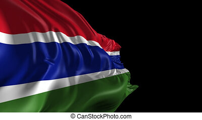 Flag of Gambia - Beautiful 3d animation of Gambia flag with...