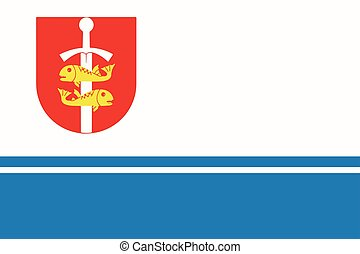 Flag of Gdynia, Poland. Vector Format.