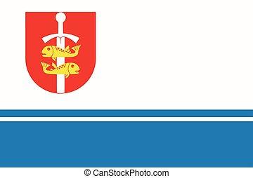 Flag of Gdynia, Poland. Vector Format.