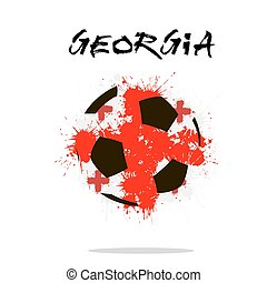 Flag of Georgia as an abstract soccer ball