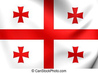 Flag of Georgia. Close Up.