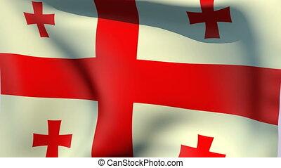 Flag of Georgia - Flags of the world collection - Georgia