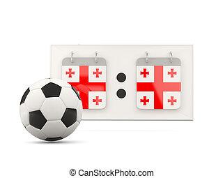Flag of georgia, football with scoreboard