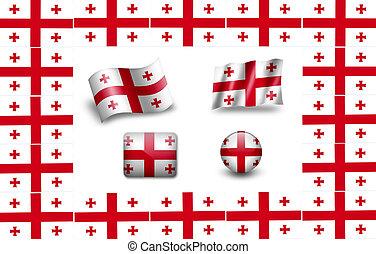 flag of Georgia. icon set