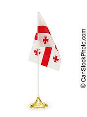 Flag of Georgia isolated on white