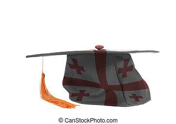 Flag of Georgia on Graduation Cap