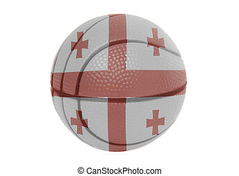 Flag of Georgia on volleyball ball