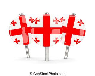 Flag of georgia, round pins