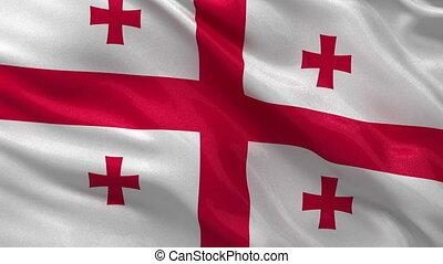 Flag of Georgia - seamless loop