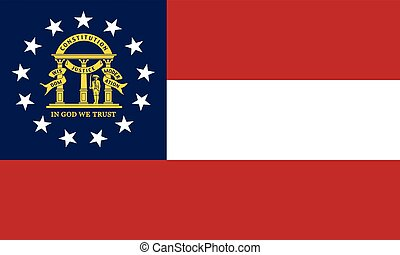 Flag of Georgia state correct size, colors, vector