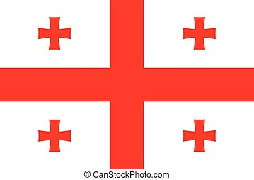 Flag of Georgia vector illustration