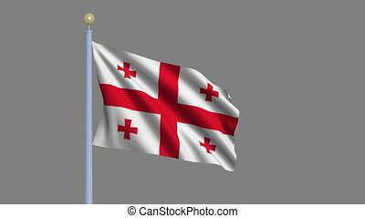 Flag of Georgia with alpha matte