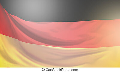flag of Germany 3d rendering background