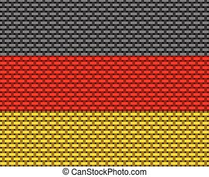 Flag of Germany coarse meshed