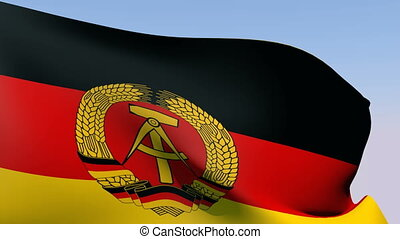 Flag of Germany (DDR) - Flags of the world collection -...