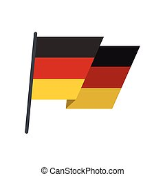 Flag of Germany icon, flat style