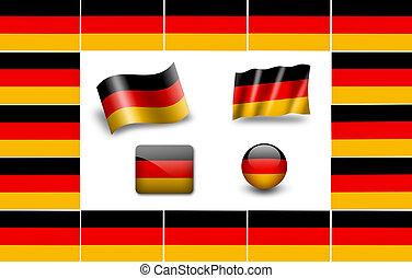flag of Germany. icon set