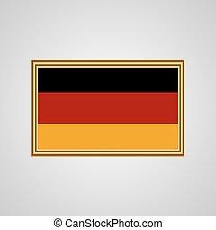 Flag of Germany in a golden frame