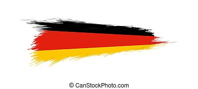 Flag of Germany in grunge brush stroke.