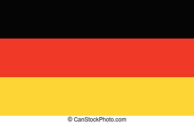Flag of Germany in official rate and colors vector