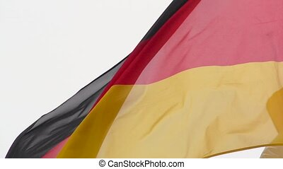 Flag of Germany in slow motion - Silky flag of Germany...