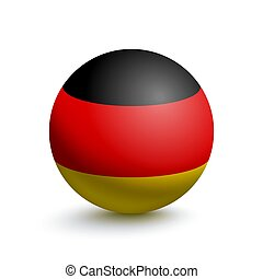 Flag of Germany in the form of a ball