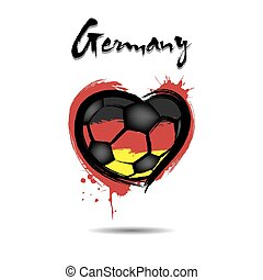 Flag of Germany in the form of a heart
