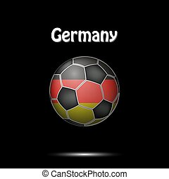 Flag of Germany in the form of a soccer ball