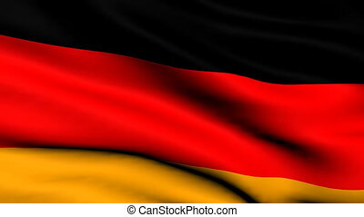 Flag of Germany looping background