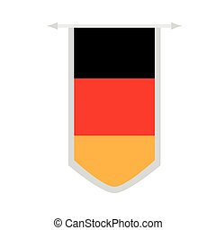 Flag of Germany on a banner