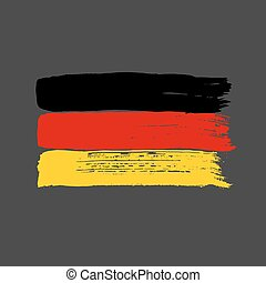 Flag of Germany on a dark background.