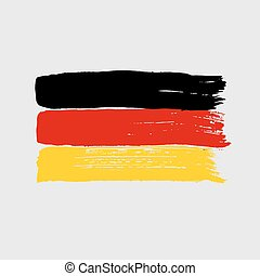 Flag of Germany on a gray background.