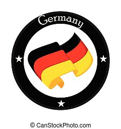 Flag of Germany on a label