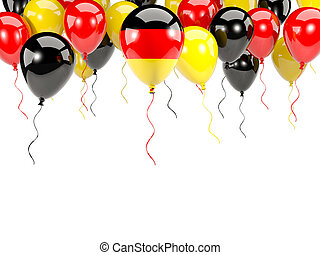 Flag of germany on balloons