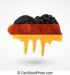 Flag of Germany painted colors